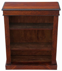 Antique Victorian adjustable mahogany open bookcase C1890