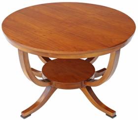 Antique Art Deco maple centre window dining table