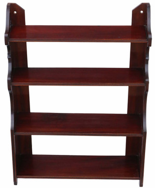 Antique quality late Victorian mahogany open bookcase C1900