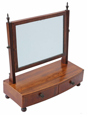 Antique quality Regency C1825 mahogany swing dressing table mirror toilet