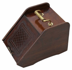 Antique Victorian C1900 mahogany coal scuttle box or purdonium