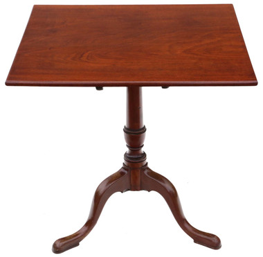 Antique Georgian C1820 mahogany tilt top supper table side wine