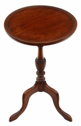 Antique quality Georgian reproduction mahogany wine table side