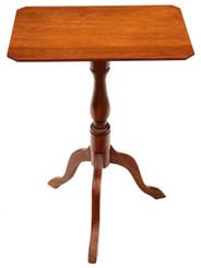 Antique Victorian C1850 mahogany & beech tilt top supper table side wine