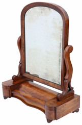 Antique fine quality large dressing table swing mirror toilet C1870