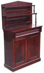 Antique 19C Regency mahogany chiffonier sideboard cupboard