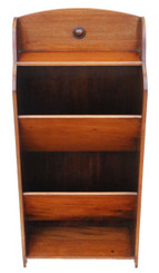 Antique mahogany book or magazine trough bookcase C1920