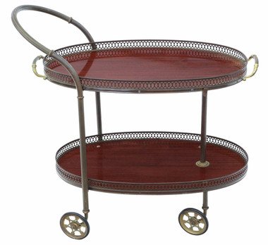 Antique quality Art Deco mahogany dumb waiter buffet cake serving table