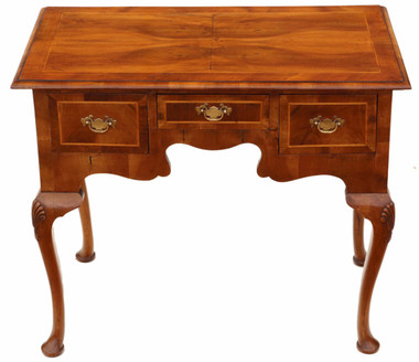 Antique Georgian revival walnut lowboy writing side table