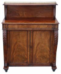 Antique quality small Regency / Victorian mahogany sideboard chiffonier