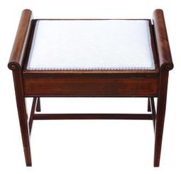 Antique mahogany Edwardian piano music stool dressing table C1905