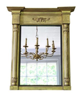 Antique 19th Century gilt pier wall mirror