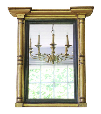 Antique early 19th Century gilt pier wall mirror