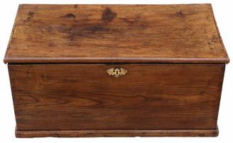 Antique 18th Century elm coffer or mule chest