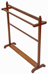 Antique quality Victorian Arts and Crafts C1880 mahogany towel rail stand