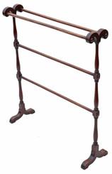 Antique Victorian C1880 mahogany towel rail