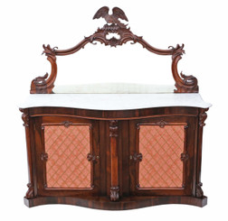 Antique large quality Victorian rosewood credenza sideboard chiffonier
