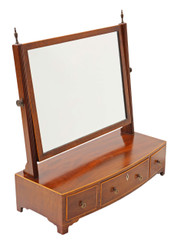 Antique late Victorian mahogany open bookcase C1870