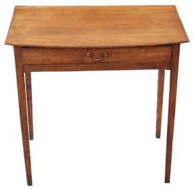 Antique Georgian oak and ash desk writing side table C1800-1820