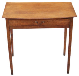 Antique Georgian oak and ash desk writing side table C1800-1820