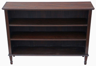 Antique large adjustable Edwardian mahogany bookcase display shelves