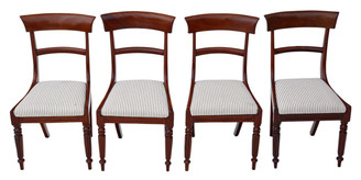 Antique quality set of 4 Regency mahogany dining chairs