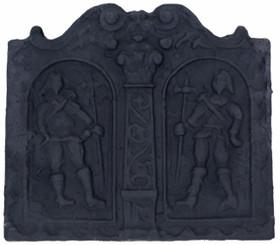 Antique large fire back cast iron