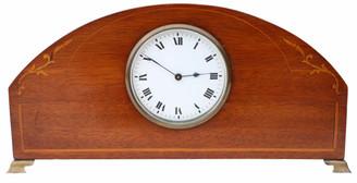 Antique Edwardian C1901 - 1910 inlaid mahogany mantle clock
