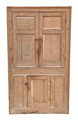 Antique quality Georgian C1800 and later pine corner cupboard