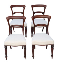 Antique quality set of 4 William IV / early Victorian mahogany dining chairs