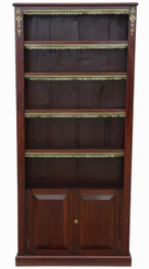 Antique quality Victorian C1890 and later tall adjustable bookcase