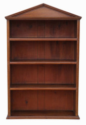 Antique quality Victorian mahogany open wall or floor bookcase C1850