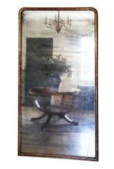Antique very large quality 19th Century Victorian gilt wall mirror 6'6""