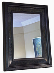 Antique large quality Aesthetic Victorian overmantle wall mirror C1900