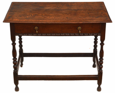 Antique Georgian 18th Century oak writing side or occasional table