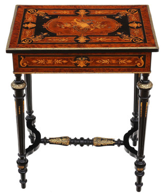 Antique fine quality 19th Century marquetry dressing table side occasional