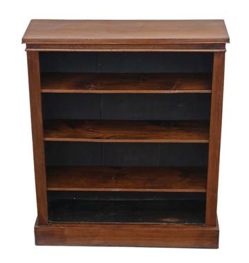 Antique Victorian adjustable mahogany open bookcase C1900