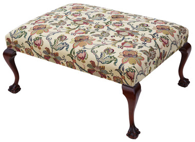 Antique large Victorian & later mahogany window seat chair stool