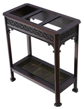 Antique quality Edwardian C1905 mahogany hall stick or umbrella stand