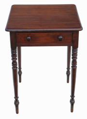 Antique quality Victorian C1860 mahogany side or small writing table