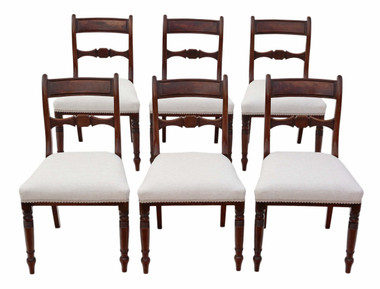 Antique set of 6 Regency mahogany dining chairs