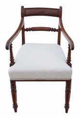Antique Georgian C1810 mahogany office elbow desk chair carver