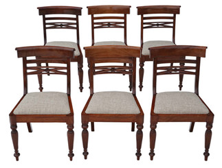 Antique quality set of 6 reproduction Regency style dining chairs