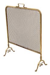 Antique Victorian brass fire screen