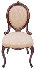 19C Victorian walnut ladies spoon back chair armchair sofa nursing