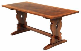 Antique quality oak reproduction refectory dining table 6'