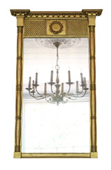 Antique quality Regency overmantle or wall mirror C1830