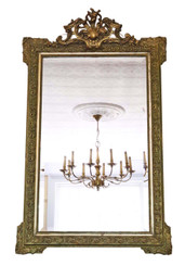 Antique large fine quality Victorian French overmantle or wall mirror C1890