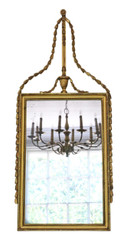 Antique large quality Georgian overmantle wall mirror C1810