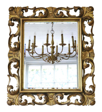 Antique quality 19th Century Italian gilt overmantle or wall mirror